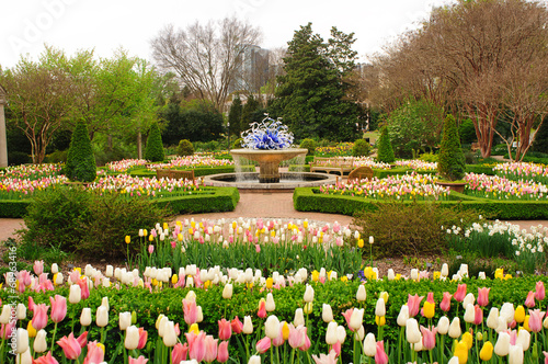 Landscape design in Atlanta botanical garden horizontal