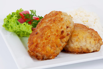cutlets with salad