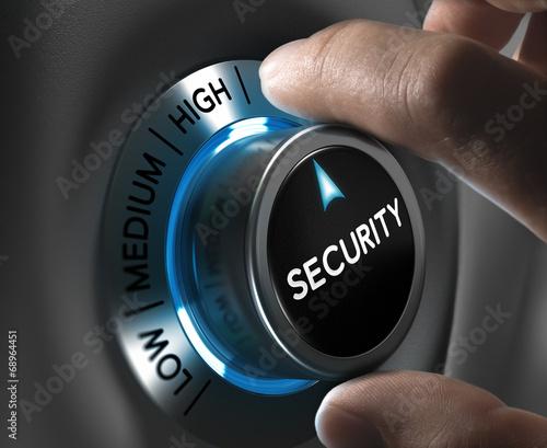 Leinwanddruck Bild Security and Risk Management Concept