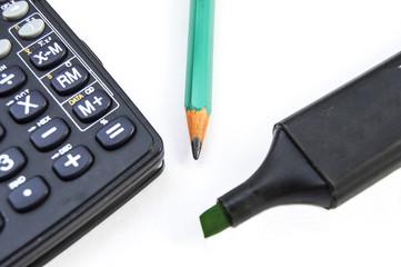 Калькулятор и карандаш офис