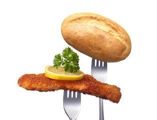 Wiener Schnitzel mit Brotchen