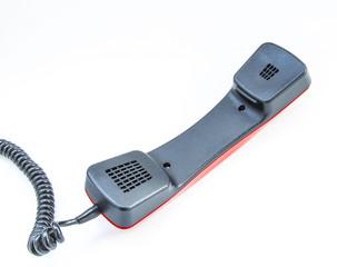 телефонная трубка на белом фоне