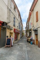 a street in the French village Murviel-les-Beziers