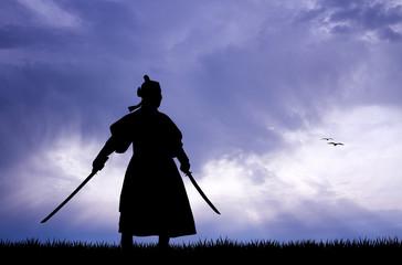 Samurai with swords
