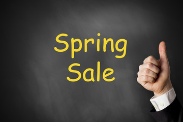 thumbs up spring sale chalkboard