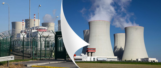Nuclear power plant Temelin in Czech Republic Europe,
