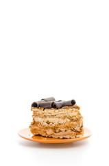 Coffee cake isolated on white background