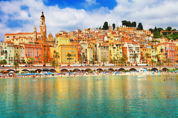 sunny Menton, south of France