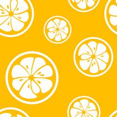 Abstract citrus fruit seamless pattern. Illustration