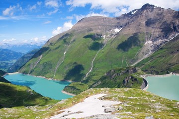 Kaprun water reservoirs - Artificial lake Mooserboden, Austria