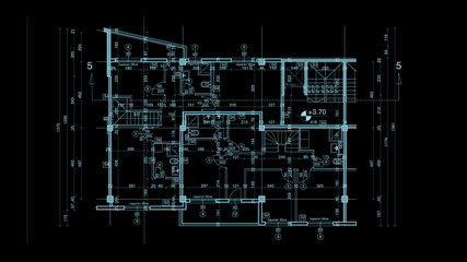 abstract architecture blueprint