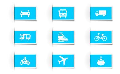 Icon Set Verkehr