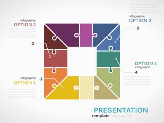 Infographic square presentation