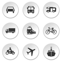 Icon Set Verkehr