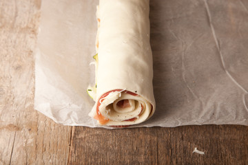 rolled puff pastry pie