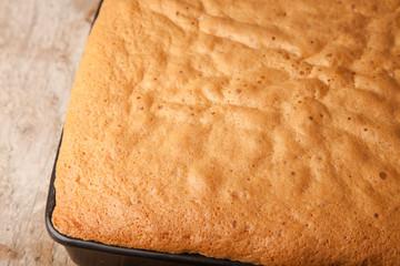 close up cake sponge