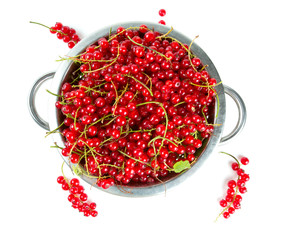 red currant berries in colander