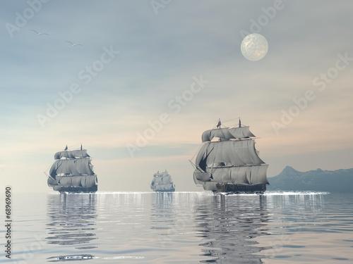 Old ships - 3D render © Elenarts