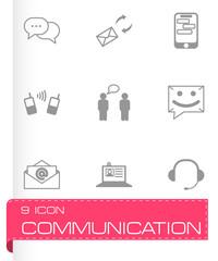 Vector black communication icons set