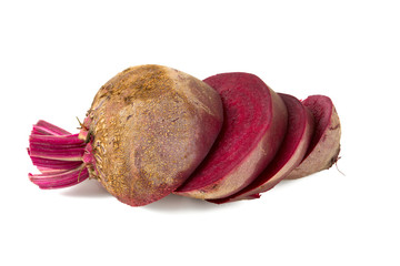 sliced beetroot isolated