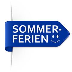 Langer azurblauer Sticker Pfeil – Sommerferien