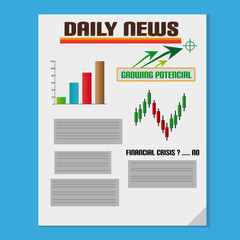 Daily Investment News With Graph And Text