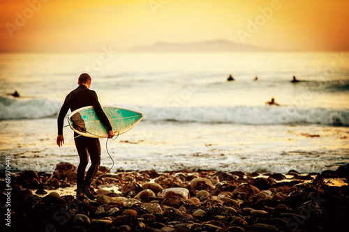 Surfer sunset - 68970448