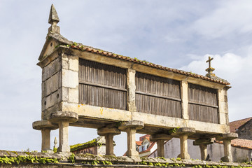Traditional barn in Vilanova de Arousa
