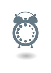 Vector icon of an old alarm clock without arrows