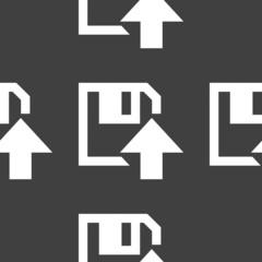 floppy disk upload web icon. flat design. Seamless pattern.