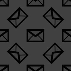 mail envelope web icon. flat design. Seamless pattern.