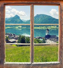 Fensterblick Sankt Wolfgang