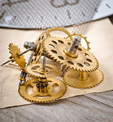 mechanical clock gears