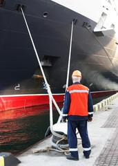 worker in harbour
