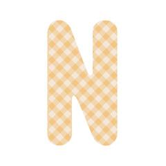 Orange squares pattern alphabet N
