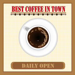 Daily Fresh Coffee Poster