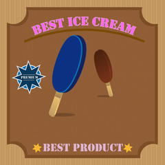 Best Ice cream Poster With Pattern
