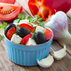 Salat - Feta - Oliven