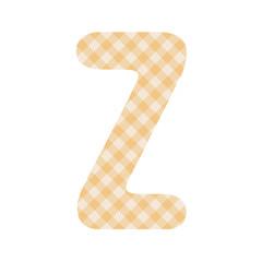 Orange squares pattern alphabet Z