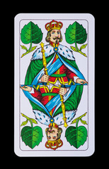 Spielkarten Könige im Spiel - Grün König