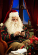 Santa Claus and smartphone