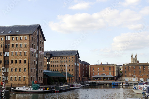 Gloucester Docks on a Sunny Summers Day - 68973218