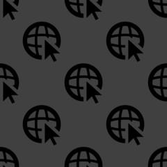 globe web icon. flat design. Seamless pattern.