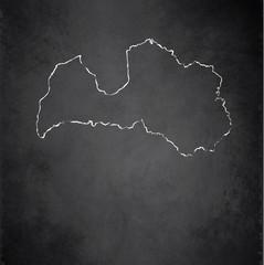 Latvia map blackboard chalkboard vector