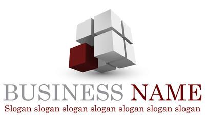 Logo cubique rouge