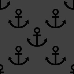 Anchor web icon. flat design. Seamless pattern.