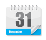 Flat Calendar Icon for Applications Vector Illustration - 68974058