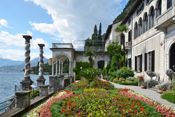 View to the lake Como from villa Monastero. Italy