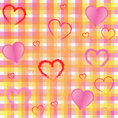 Nice tissue square and hearts background