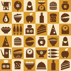Brown kitchenware seamless
